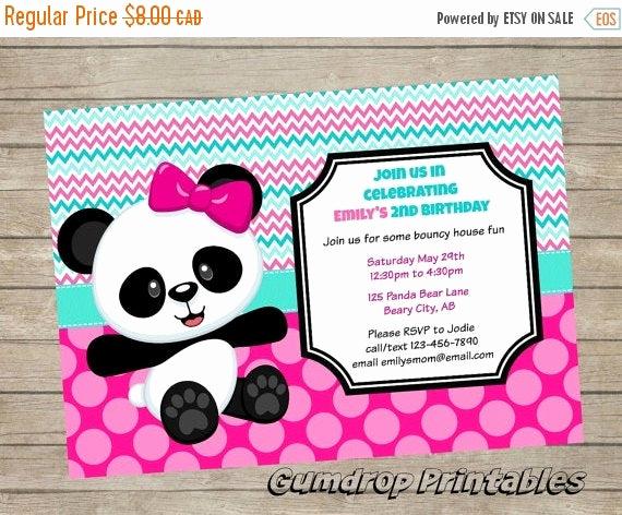 Panda Birthday Invitation Templates Free Lovely Off Cute Panda Bear Printable Birthday by Gumdropprintables