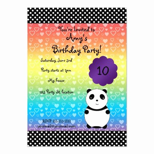 Panda Birthday Invitation Templates Free Unique Cute Panda Bear Birthday Invitation