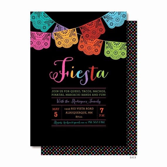 Papel Picado Invitation Template Awesome Cinco De Mayo Invitation Papel Picado Invitations Mexican