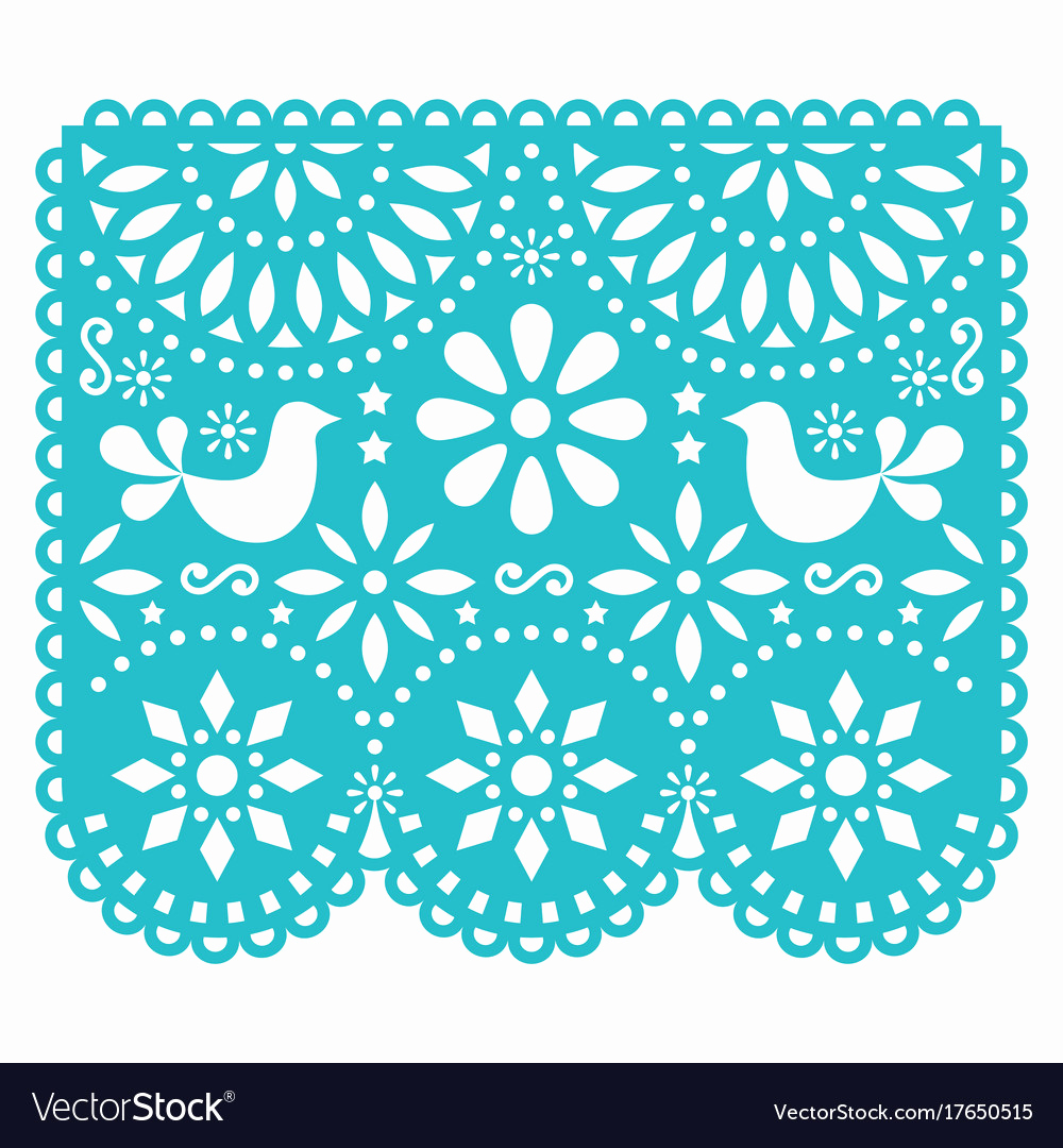 Papel Picado Invitation Template Awesome Papel Picado Template Pdf Printable File Free Download
