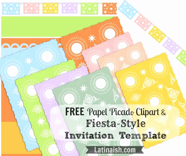 Papel Picado Invitation Template Free Awesome Free Papel Picado Clipart and Fiesta Style Invitation
