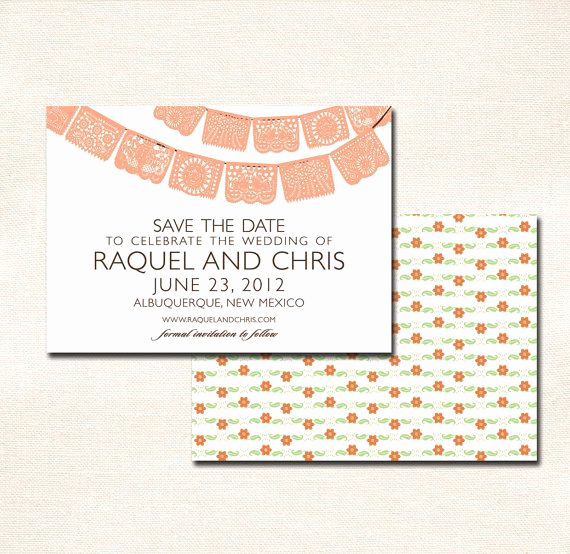 Papel Picado Invitation Template Free Beautiful Save the Date Fiesta Papel Picado Banner Other