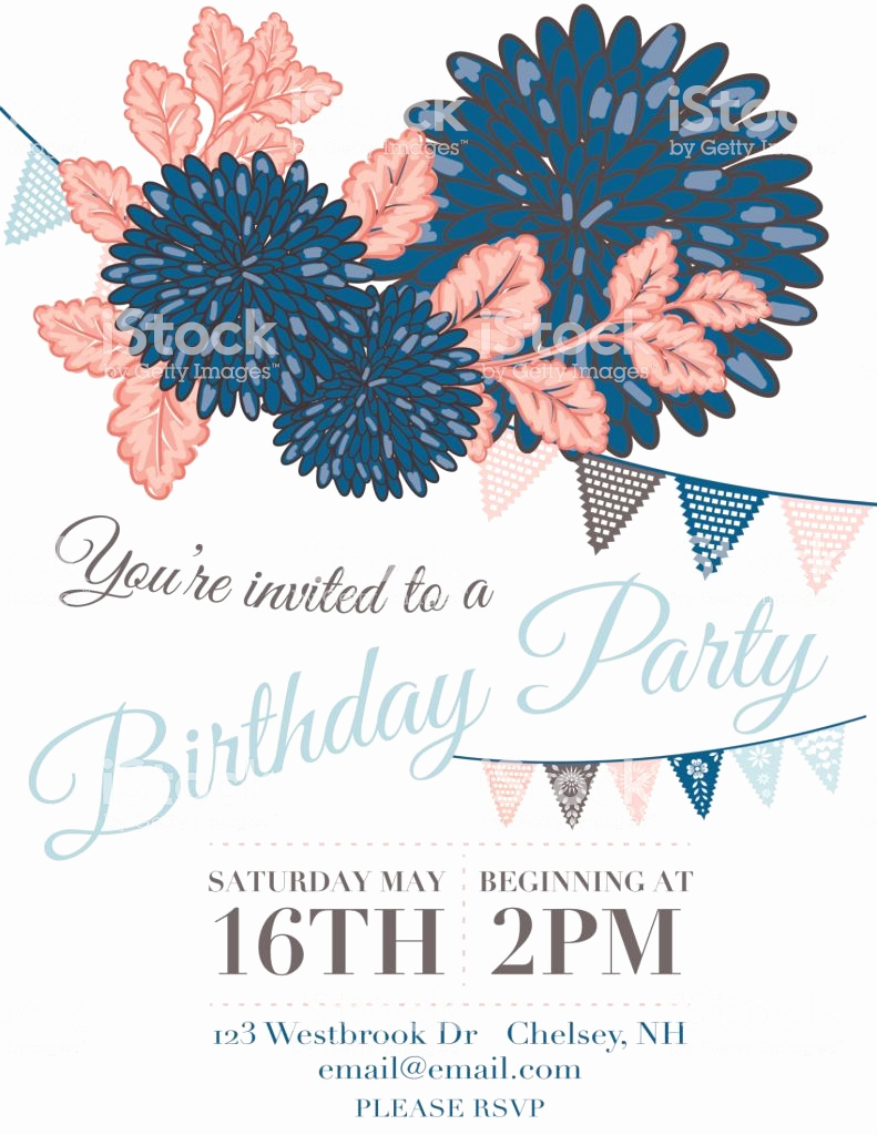 Papel Picado Invitation Template Free Best Of Chrysanthemum Papel Picado Flags Birthday Invitation