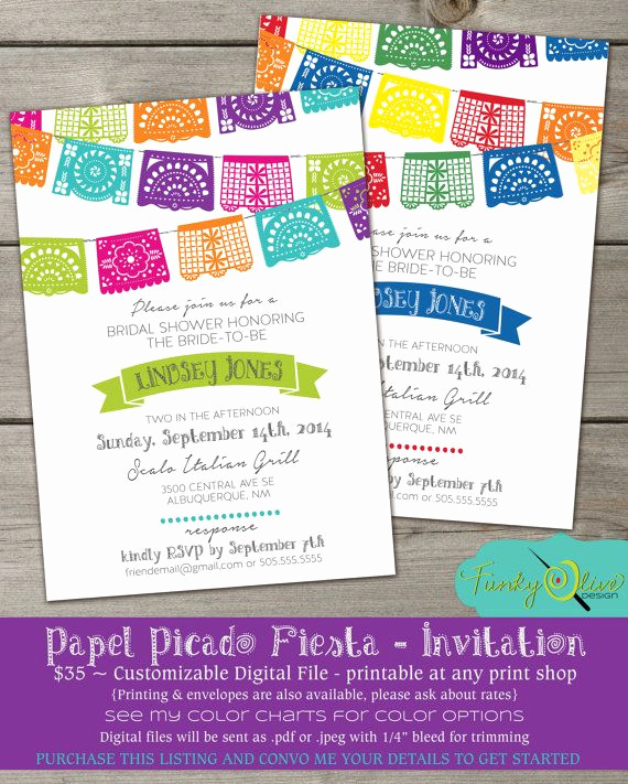 Papel Picado Invitation Template Free Inspirational Papel Picado Mexican Paper Banner Fiesta Wedding