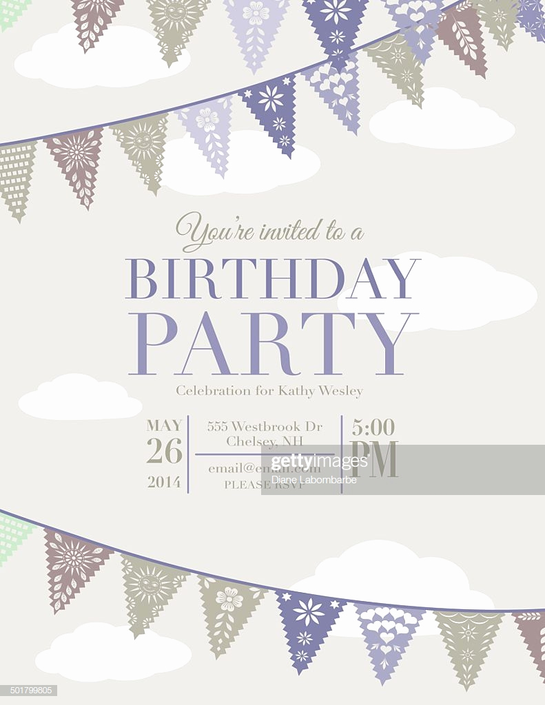 Papel Picado Invitation Template Free Lovely Papel Picado Banners Birthday Party Invitation Template