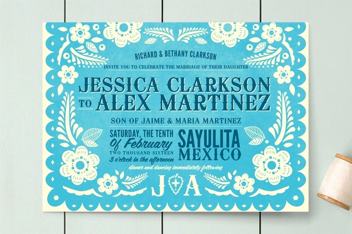 Papel Picado Invitation Template Free Lovely Papel Picado Invitation Template Cobypic