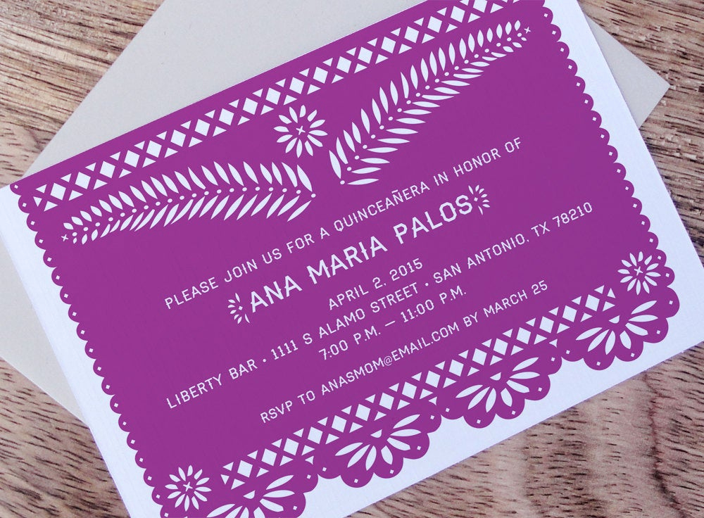 Papel Picado Invitation Template Free Luxury Fiesta Papel Picado Printable Party Invitation