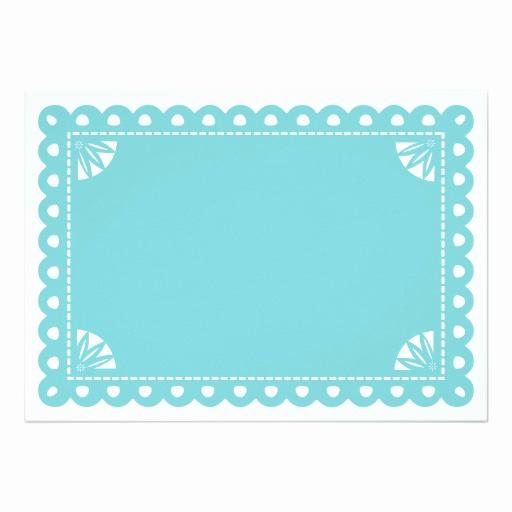 Papel Picado Invitation Template Free New Papel Picado Engagement Party Invite Blue Invitation Card