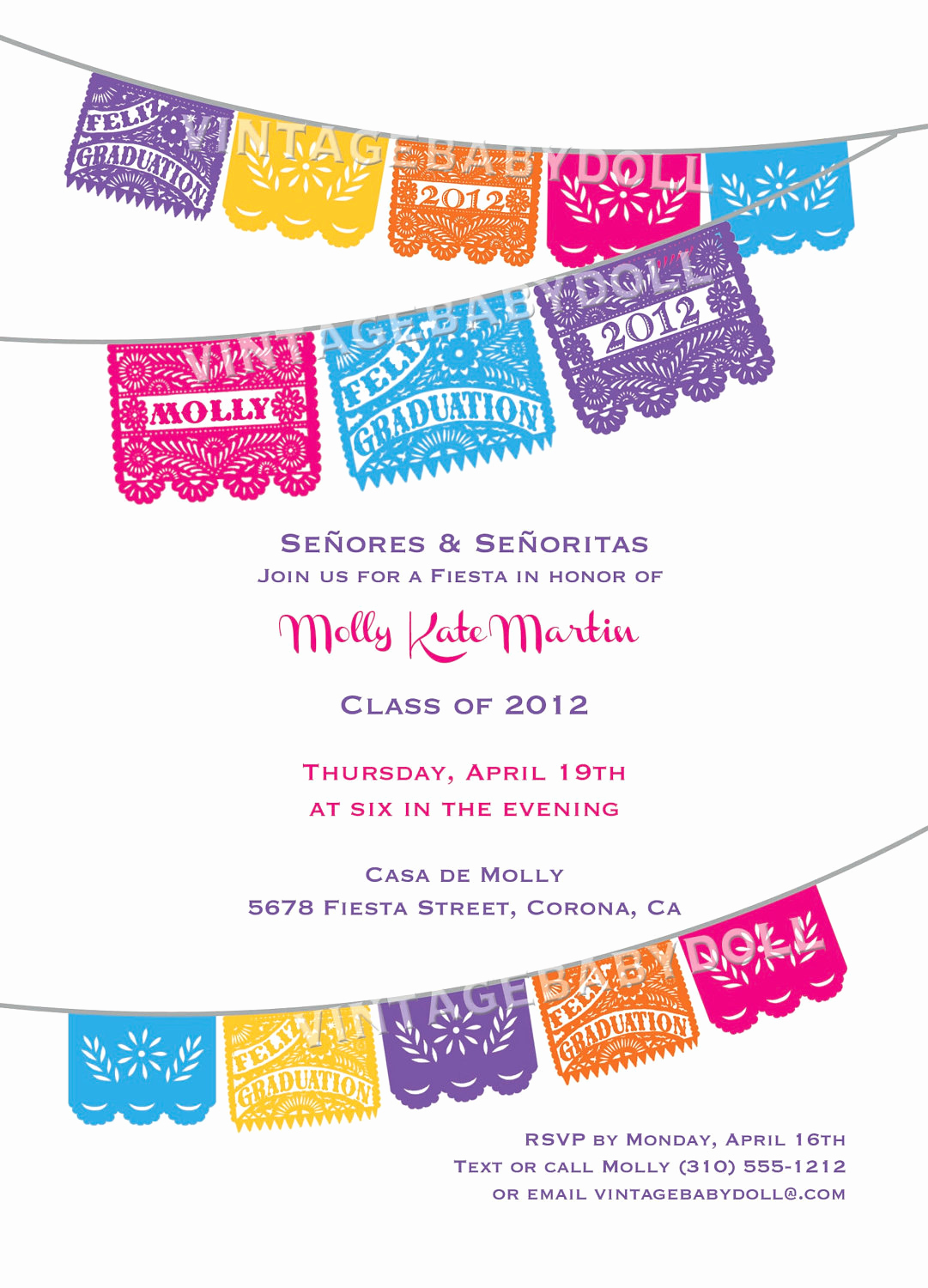 Papel Picado Invitation Template Free Unique Papel Picado Graduation Festive Papel Picado Fiesta Invitation