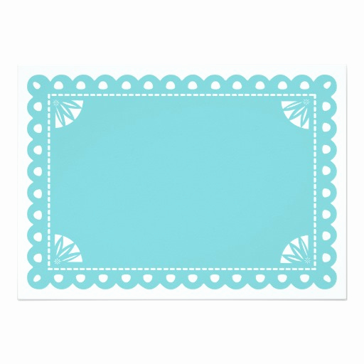 Papel Picado Invitation Template Inspirational Papel Picado Engagement Party Invite Blue Invitation Card