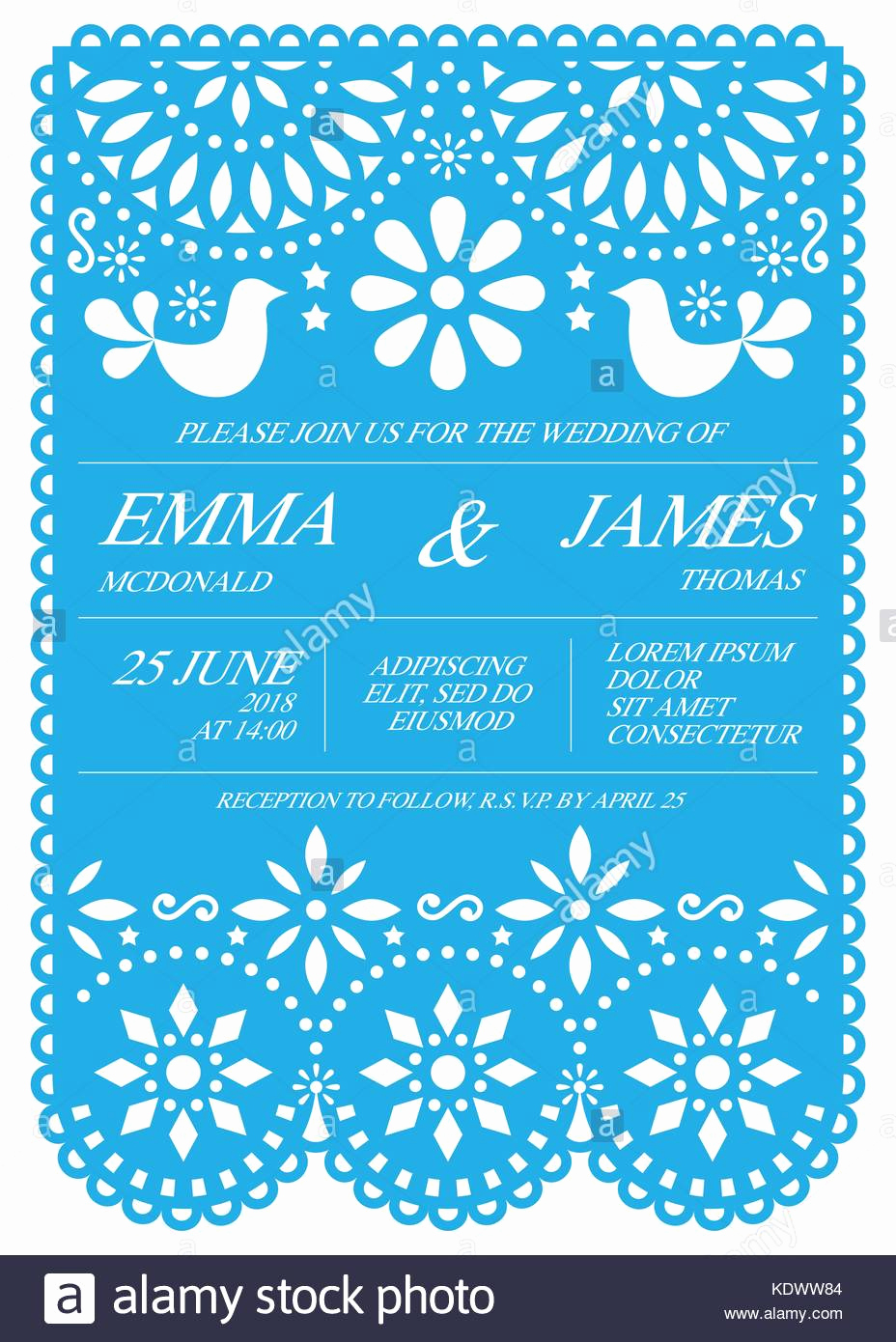 Papel Picado Invitation Template Luxury Picado Stock S & Picado Stock Alamy