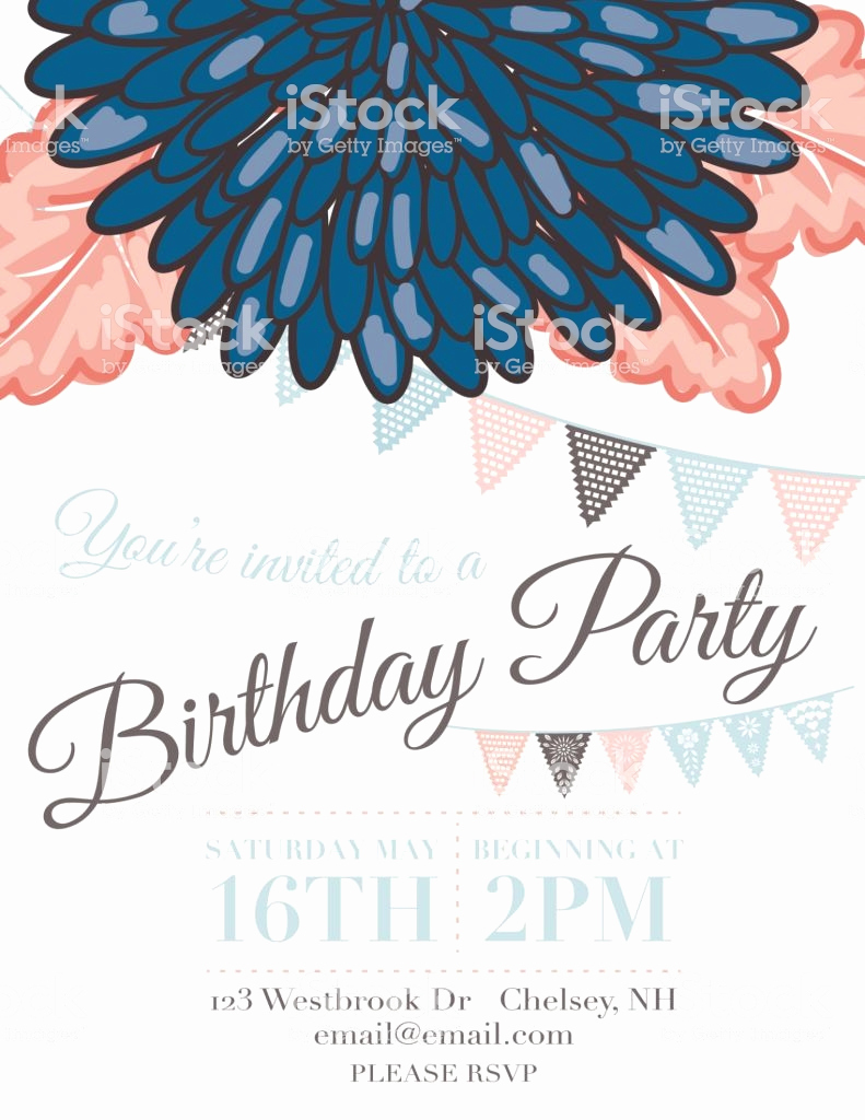 Papel Picado Invitation Template New Chrysanthemum Papel Picado Flags Birthday Invitation