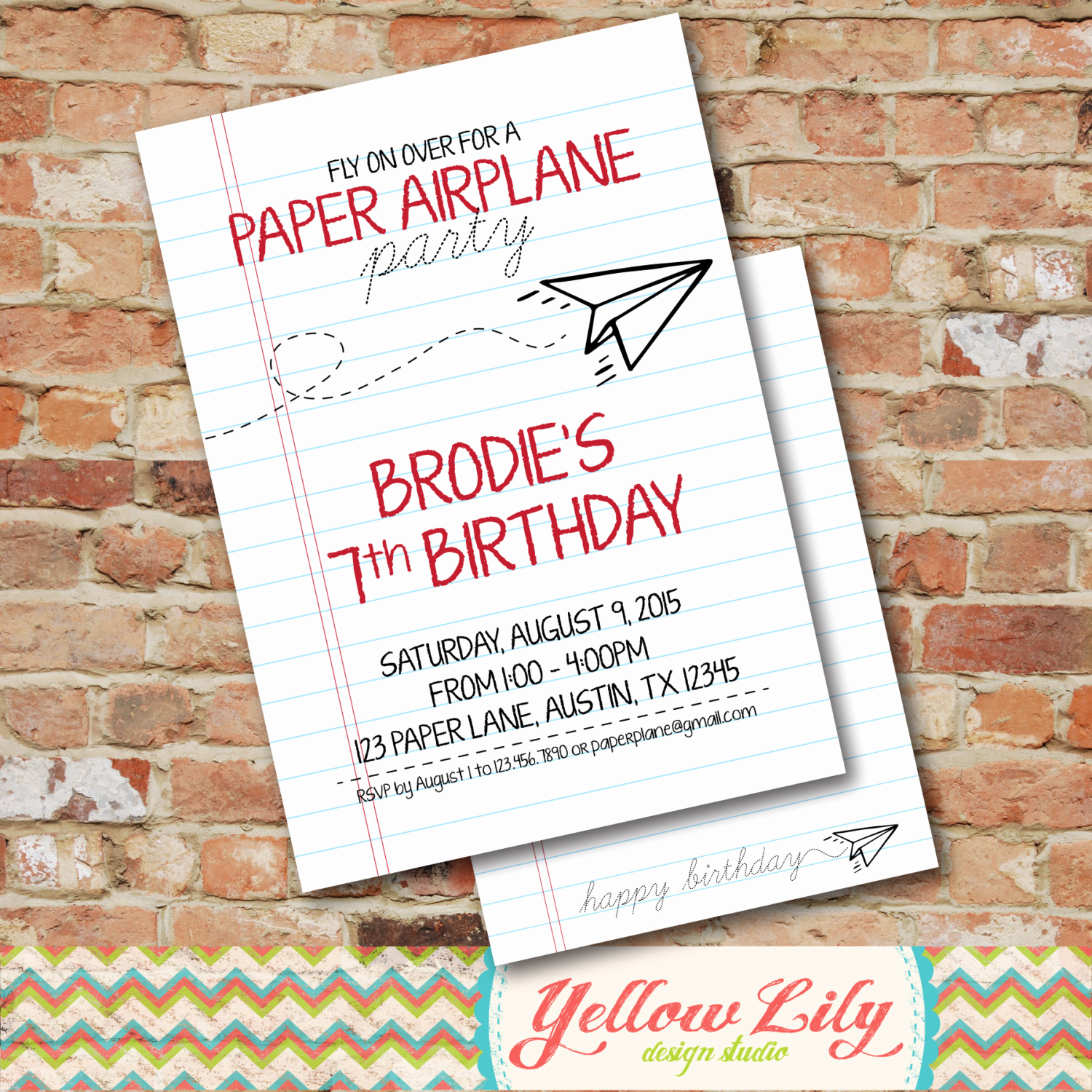 Paper Airplane Invitation Template Inspirational Paper Airplane Party Invitation Diy Party Printable
