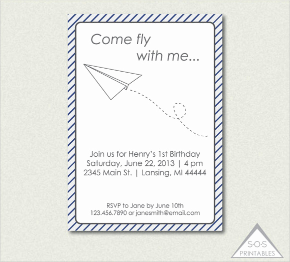 Paper Airplane Invitation Template Lovely 9 Paper Airplanes Psd Word