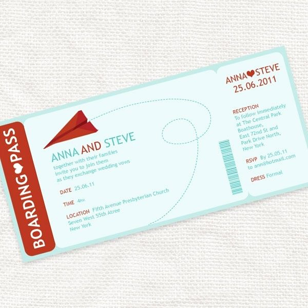 Paper Airplane Invitation Template Luxury Paper Plane Boarding Pass Invitation Printable File I