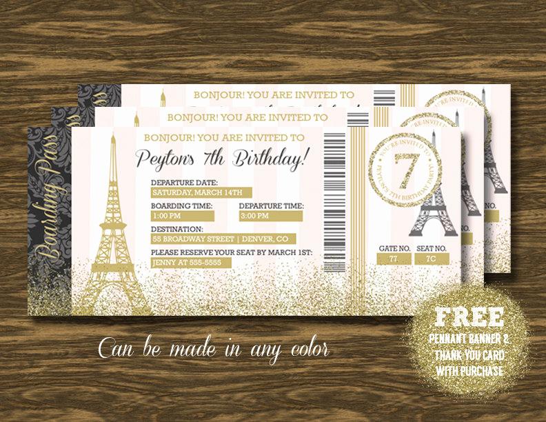 Paris Boarding Pass Invitation Beautiful Paris Boarding Pass Invitation Printable Free Pennant