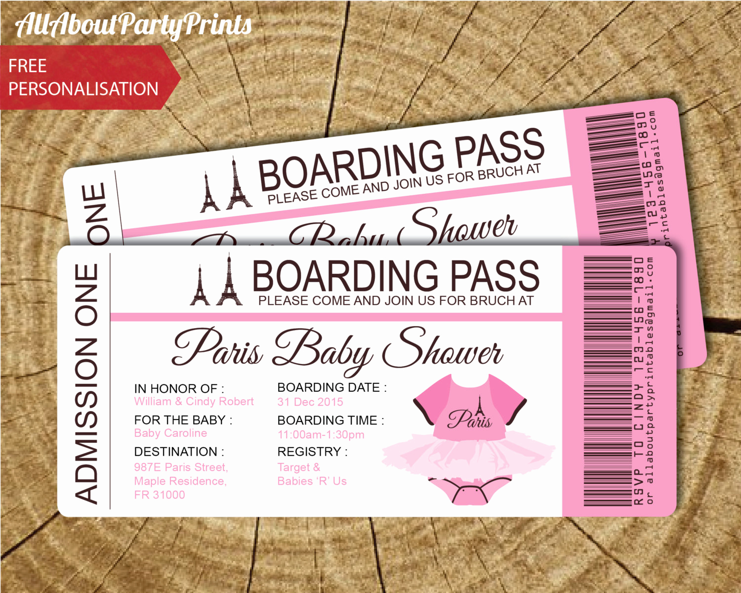 Paris Boarding Pass Invitation Lovely Paris Baby Shower Passport and Boarding Pass
