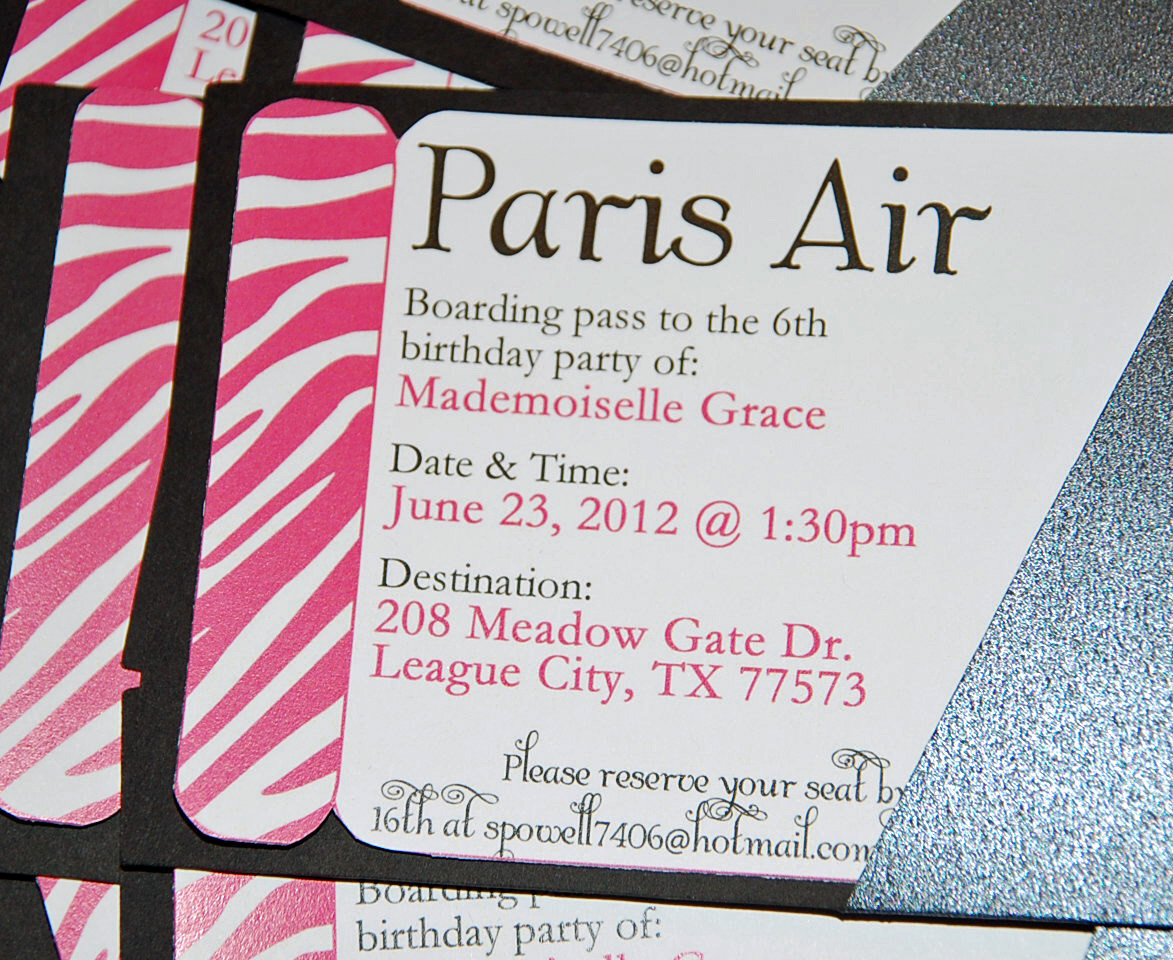 Paris Boarding Pass Invitation New Boarding Pass Printable Invitation Summer In Paris Party