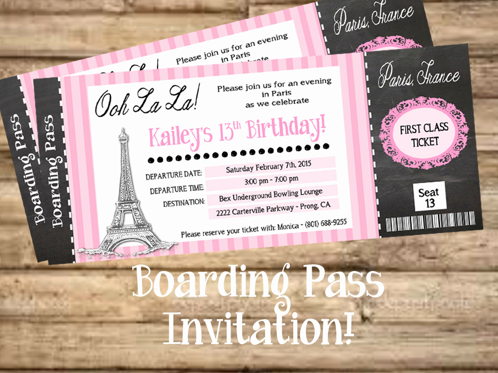 Paris Boarding Pass Invitation New Chandeliers & Pendant Lights