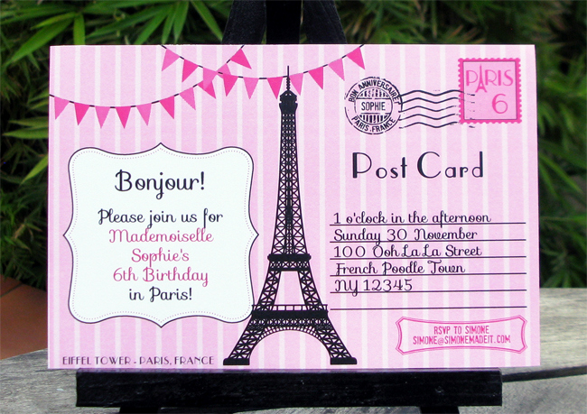 Paris Passport Invitation Template Awesome Birthday Party In Paris Invitations & Printable Collection