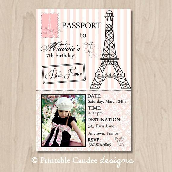 Paris Passport Invitation Template Elegant Unavailable Listing On Etsy