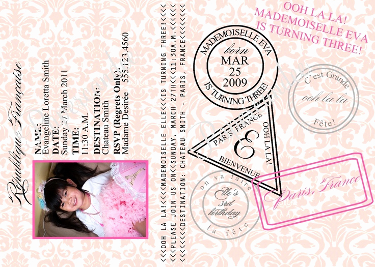 Paris Passport Invitation Template Inspirational the original Paris Passport Invitations Paris Invitation