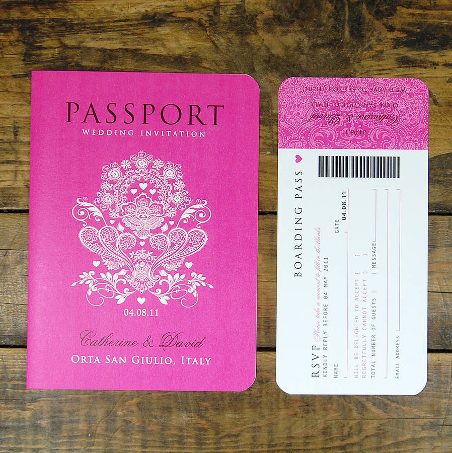 Paris Passport Invitation Template Lovely Passport to Love Travel Card Style Wedding Invitation by