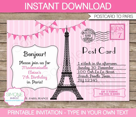 Paris themed Invitation Template Beautiful Best 25 Paris Invitations Ideas On Pinterest