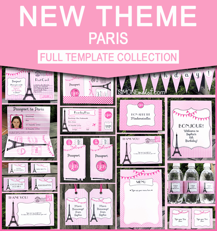 Paris themed Invitation Template Elegant Birthday Party In Paris Invitations & Printable Collection