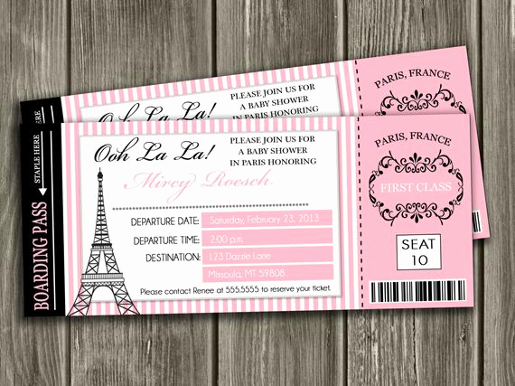 Paris themed Invitation Template Elegant Dazzleexpressions Giveaway