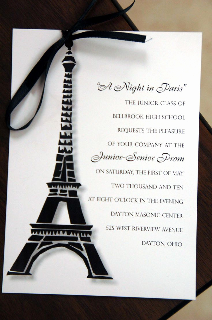 Paris themed Invitation Template Luxury Best 25 Paris Prom theme Ideas On Pinterest