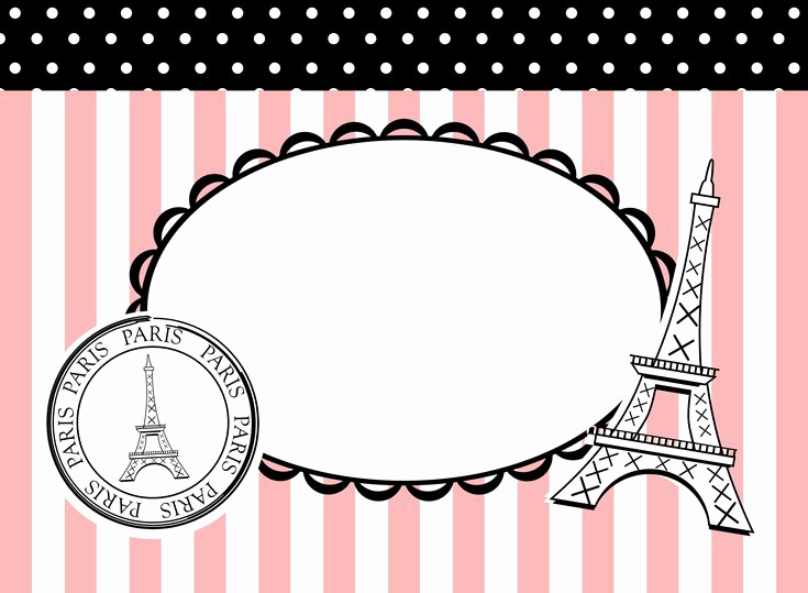 Paris themed Invitation Template New Pink Poodles In Paris theme Party