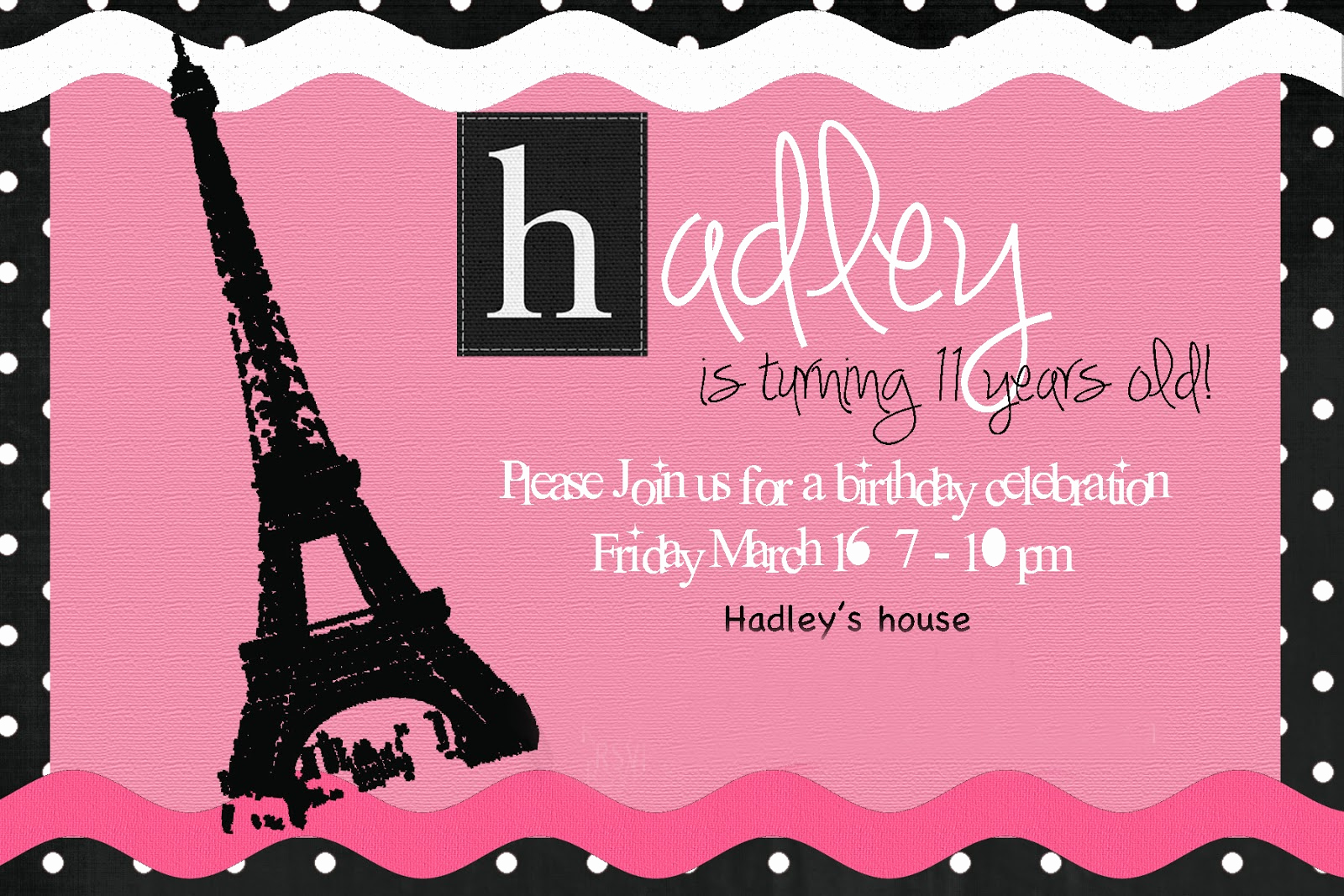 Paris themed Invitation Template New the Seal Bark Ooh La La Paris Birthday Party