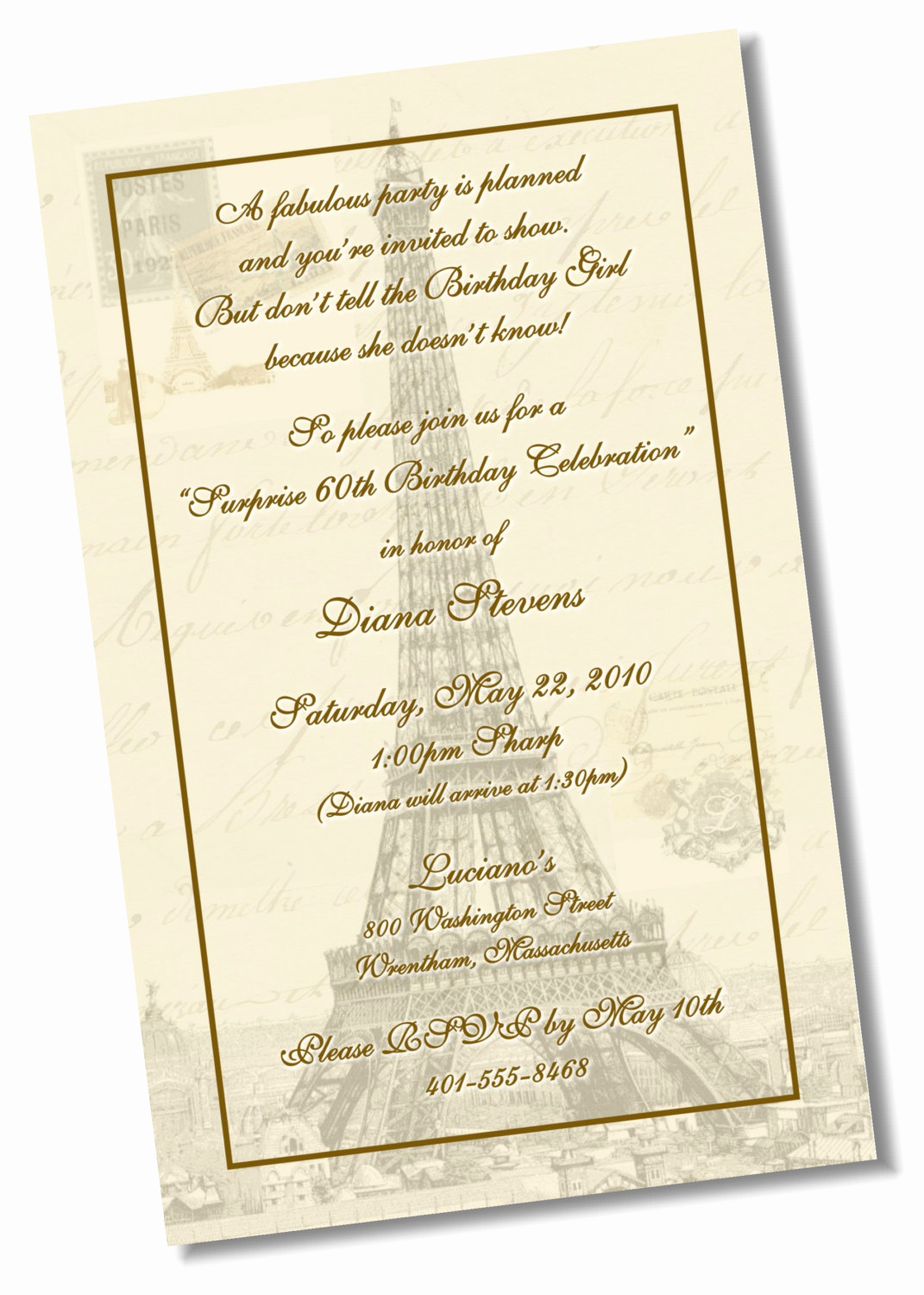 Paris themed Invitation Template Unique 60th Birthday Paris theme Invitation Diy Printable