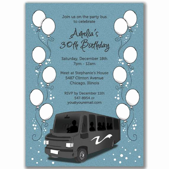 Party Bus Invitation Wording Inspirational Items Similar to 15 Party Bus Invitations Balloons for A