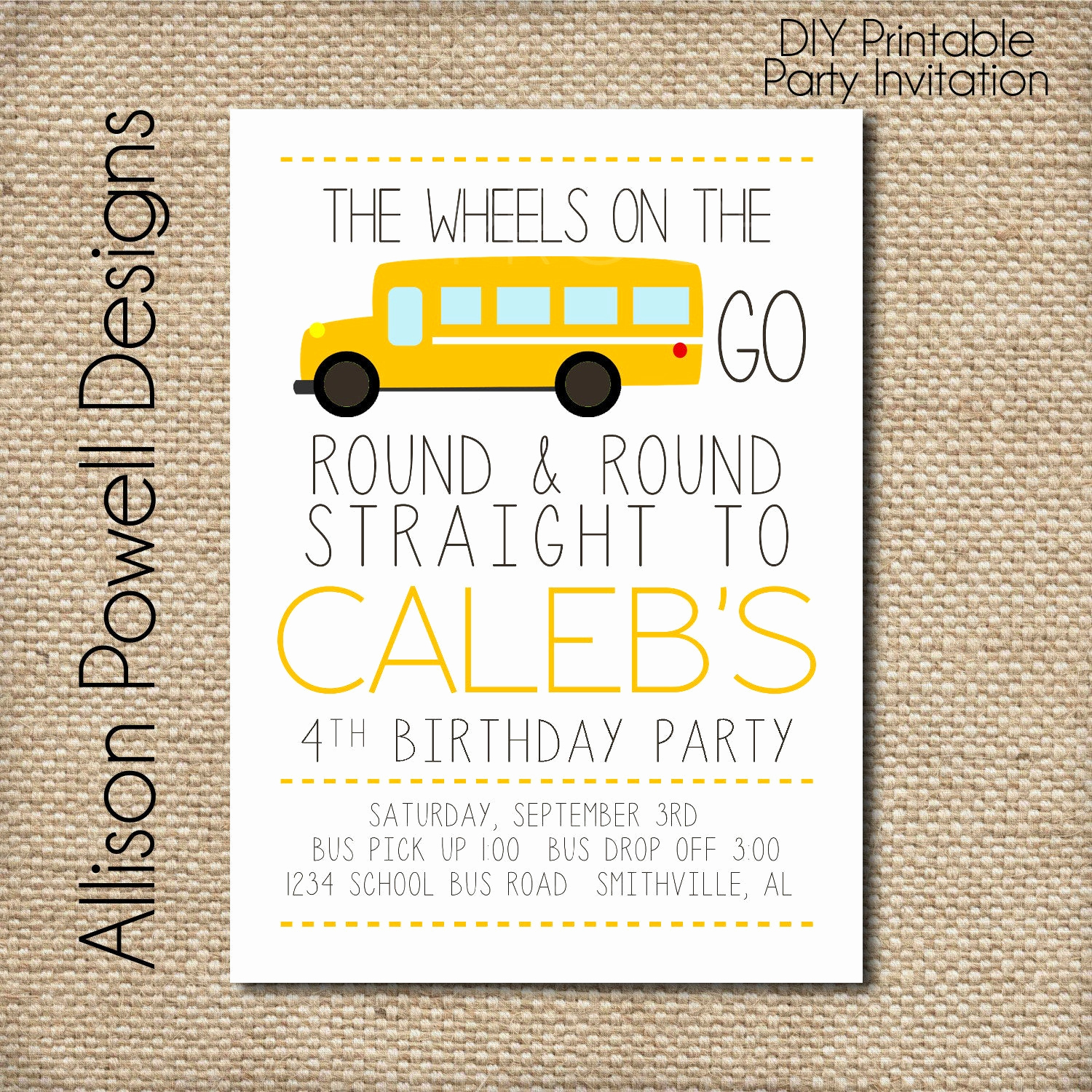 Party Bus Invitation Wording Luxury School Bus Wheels the Bus Birthday Party Invitation