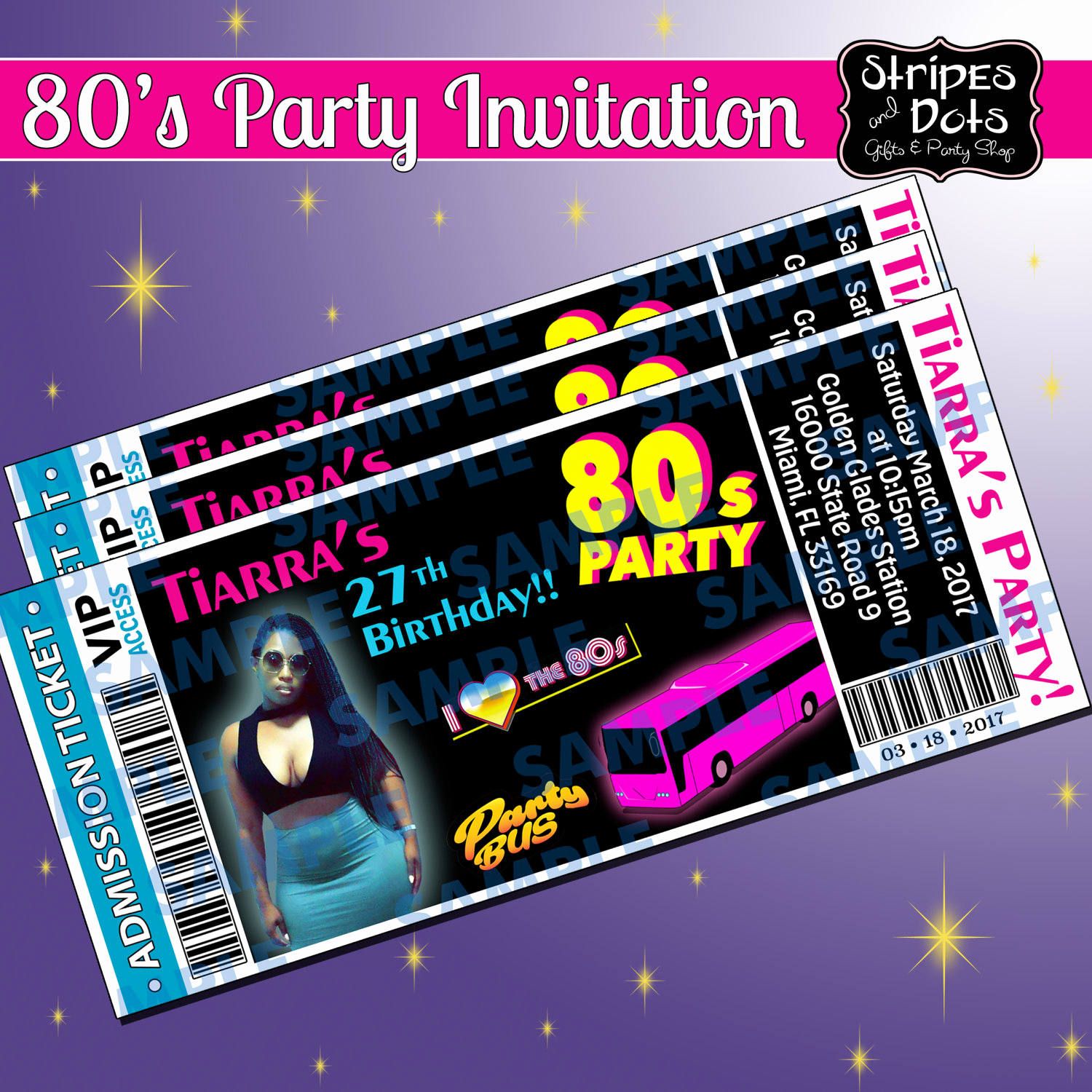 Party Bus Invitation Wording Unique Ticket Invitations Party Bus Invitation 80 S