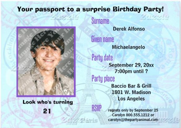 Passport Invitation Template Free Beautiful 13 Passport Invitation Templates Free Psd Vector Eps
