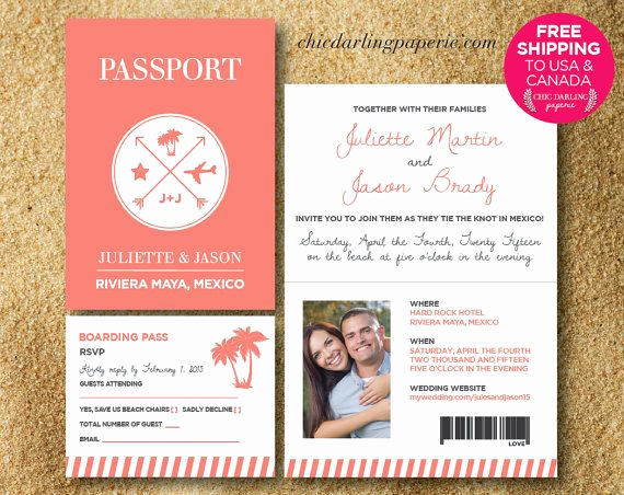 Passport Invitation Template Free Best Of 17 Best Ideas About Passport Wedding Invitations On
