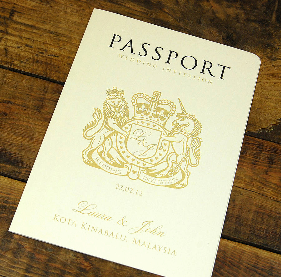 Passport Invitation Template Free Best Of Passport to Love Booklet Travel Wedding Invitation by