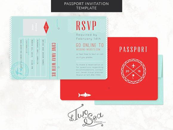 Passport Invitation Template Free Best Of Passport Wedding Invitation Template Invitation