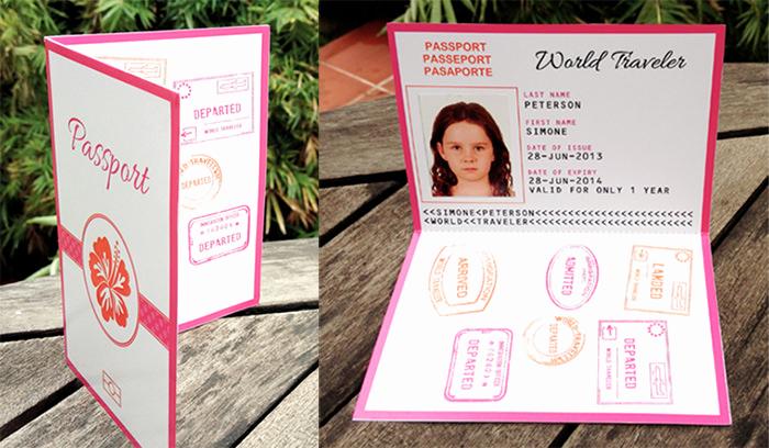 Passport Invitation Template Free Elegant Luau Boarding Pass Invitations