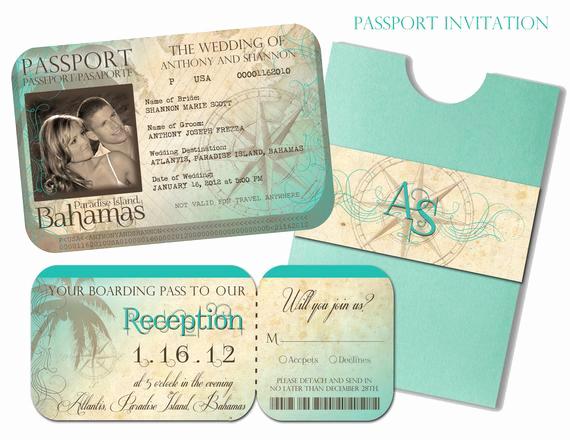 Passport Invitation Template Free Elegant Passport Wedding Invitation and Boarding Pass Reception and