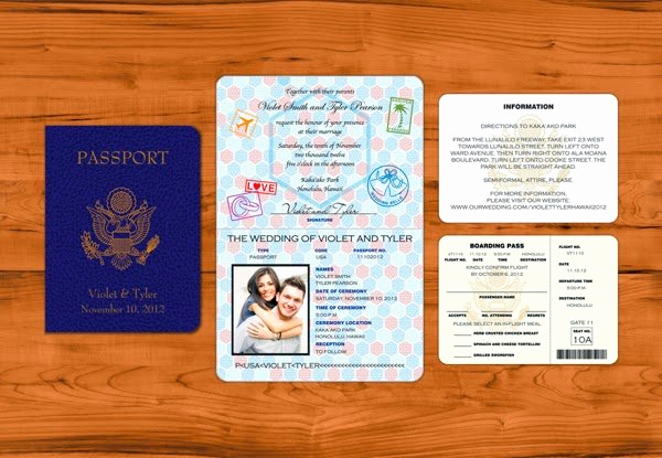 Passport Invitation Template Free Elegant Passport Wedding Invitation Template Wedding and Bridal