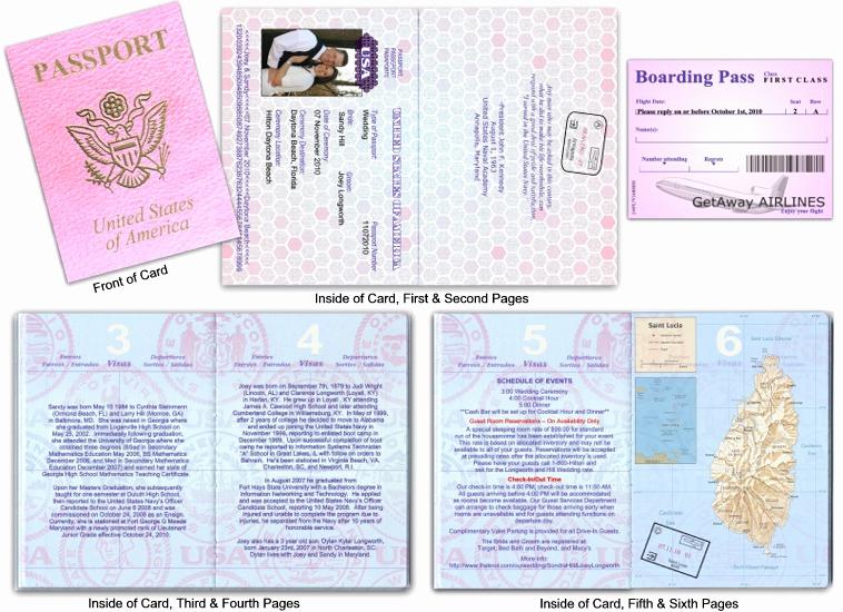 Passport Invitation Template Free Inspirational Custom Passport Invitation Cards