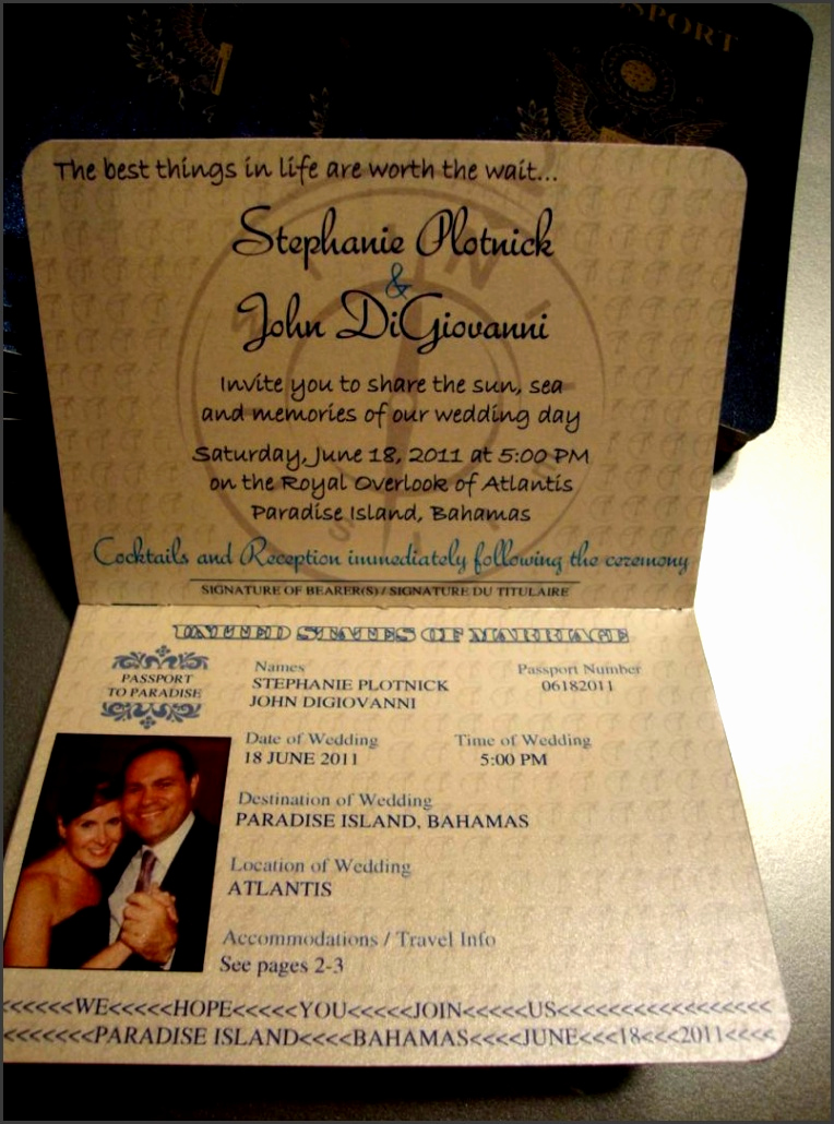 Passport Invitation Template Free Lovely 7 Passport Wedding Invitations Template Sampletemplatess