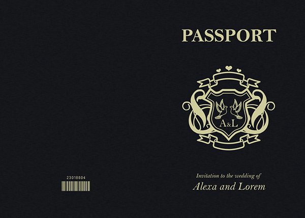 Passport Invitation Template Free Lovely Passport Wedding Invitation & Save the Date On Behance