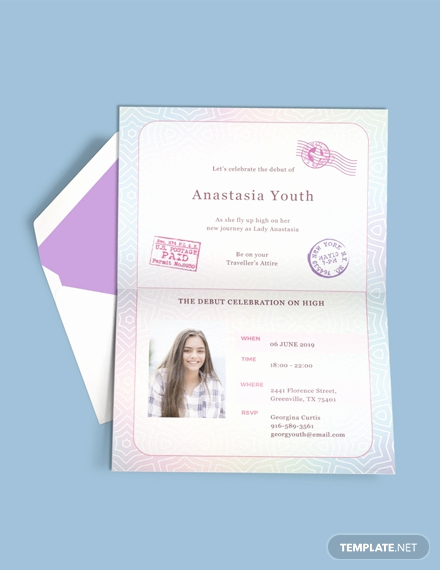 Passport Invitation Template Free New Free Boho Debut Invitation Template Download 517