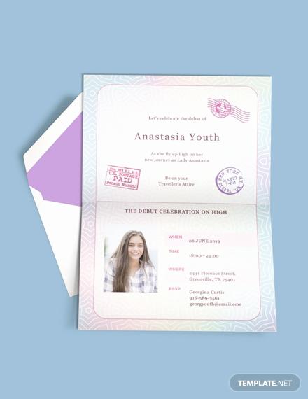 Passport Invitation Template Free New Free Boho Debut Invitation Template Download 517