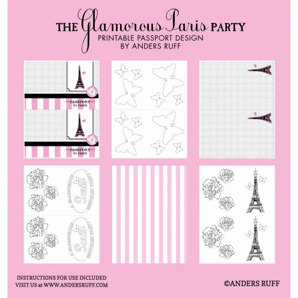 Passport to Paris Invitation Elegant Passport Party Invitations